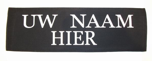 Belprotect Namensschild groß mit Velcro