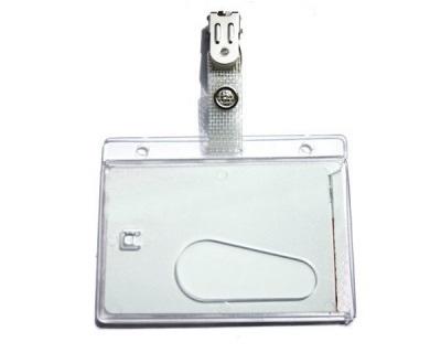 ID-kaart Houder transparent met klem