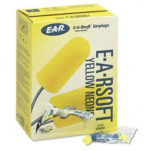 E-A-R Soft Bouchons d'oreille Yellow Neons avec cordon