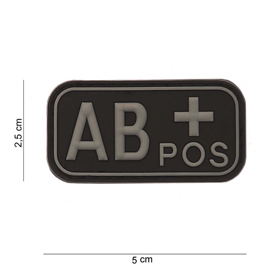 PVC Patch Blutgruppe